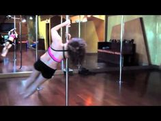 Pole Dance Tutorial with Mina Mortezaie: V-Spin, into the Chair Spin into a Climb on the spinning pole