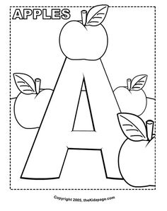 Alphabet coloring pages free download of the full alphabet upper and a is for apples free coloring pages for kids printable colouring sheets spiritdancerdesigns Choice Image