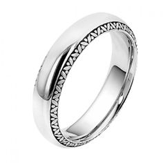 Men's 9ct White Gold Wedding Ring