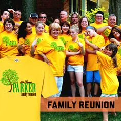 It's family reunion time.  Custom shirts for the whole family at Big Frog Custom T-Shirts  More San Diego North...no minimums, no set-up fees, no art charges, 24 hour turnaround.