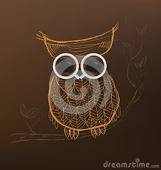 Poster With A Coffee Cup. Vector,Owl Coffee Concept. Stock Vector ...