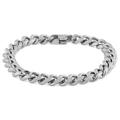 Buy Fort Tempus - Silver-Toned Chain Bracelet for only Shop at Trendhim and get returns. Paracord Bracelets, Link Bracelets, Bracelets For Men, Beaded Bracelets, Bracelet Cuir, Bracelet Set, Engraved Bracelet, Stone Beads, Diy Jewelry Making