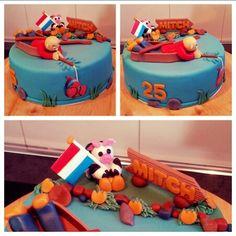 Vissers taart met Hollands thema