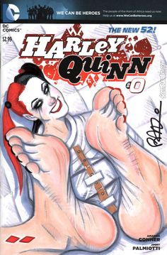Barefoot Harley Quinn by scottblairart on deviantART