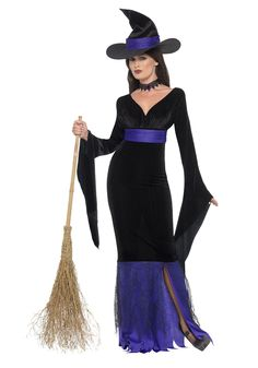 Women's Glamorous Witch Costume - FOREVER HALLOWEEN Witch Costumes, Scary Halloween Costumes, Theme Halloween, Halloween Outfits, Adult Halloween, Halloween Witches, Happy Halloween, Witch Dress, Witch Outfit