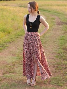 Lauha Vent Maxi Skirt by Design By Lindsay | Project | Sewing / Skirts | Kollabora