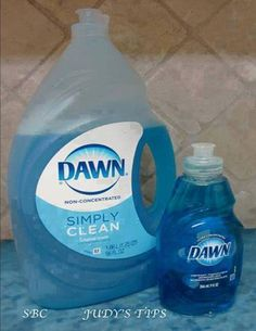 15 Uses for Dawn dish soap :: I swear by this stuff!!!   I haven't bought spray & wash in years, I just use Dawn & a toothbrush to get stains out of clothes. It even works on tough stains like grease or blood!