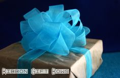 DIY Ribbon Gift Bows - just tried this and it worked like a charm!