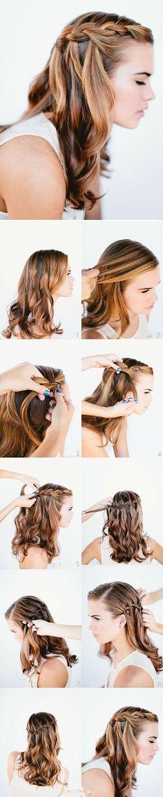 Hair Picture Tutorials / Braided Bun  -girl hair styles