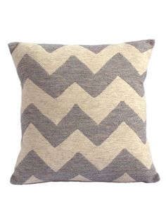 Chevy Cushion - Pearl on Linen. This classic and contemporary Tori Murphy Chevy cushion is a great example of her award winning textile design. Woven from 100% merino lambswool in Lancashire, this hand finished cushion comes with soft duck feather pad.