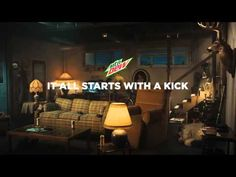 Mountain Dew Kickstart Commercial It All Starts with a Kick - YouTube