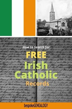 How to Search for Free Irish Catholic Records. These are a key Irish genealogy resource. Here are some tips to help you find your ancestors using these records. Free Genealogy Sites, Genealogy Research, Family Genealogy, Church Of Ireland, Christian Names, Genealogy Organization, Irish Catholic, Ancestry, Family History