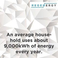 Interesting Fact: An average household uses about of energy every year. Renewable Energy, Solar Energy, Solar Power, Every Year, Energy Efficiency, Sustainability, Fun Facts, Saving Money, Household
