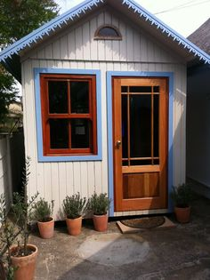 2.1 x 4.5 x 2.4m Garden Office, painted with gripseal (custom unit)(wendy house option)  Does this not look like a perfect Play house for Kids?