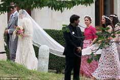 Margherita Missoni, on the arm of her father    Bridesmaids were Tatiana Sto. Domingo, Eugenie Niarchos, Teresa Missoni