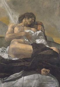 Reclining nude - (Yiannis Tsaroychis)