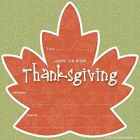 Thanksgiving Invitations {Free Printable}