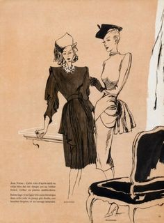 1945 Balenciaga Jean Patou Dresses