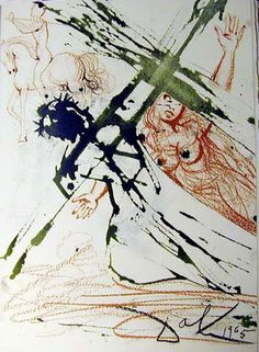 Salvador Dali (1904 - 1989) | Symbolism, Abstract Expressionism | Jesus carrying the cross - 1967