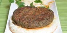 Steak végétal de lentilles vertes et champignons