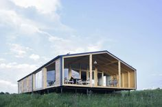 One of the coolest, most affordable prefab homes we know is the DublDom, a series of simple gabled modern cabins range from a tiny studio to a three-bedroom. now, after operating only in Russia for the most part, DublDom is taking pre-orders for the U. Cheap Prefab Homes, Prefab Homes For Sale, Affordable Prefab Homes, Prefab Modular Homes, Prefab Cabins, Prefabricated Houses, Prefab Buildings, Eco Friendly House, Cabin Homes