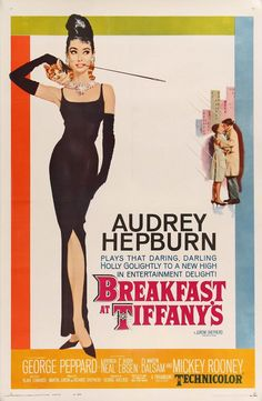 Breakfast at Tiffany's is a 1961 romantic comedy film starring Audrey Hepburn and George Peppard, directed by Blake Edwards and released by Paramount Pictures. Posters Vintage, Best Movie Posters, Classic Movie Posters, Original Movie Posters, Film Posters, Vintage Movies, Classic Movies, Original Song, Buy Posters