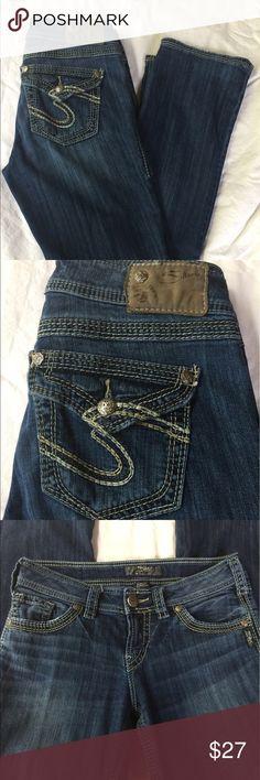 "🌺 Silver Jeans Silver ""SUKI 17 Surplus""  W28 L31 Silver Jeans Jeans Boot Cut"