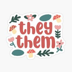 They Them Pronouns, Personalized Notebook, Support Small Business, Aesthetic Stickers, New People, Sticker Design, Sell Your Art, The Creator, Finding Yourself