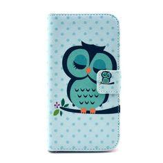 Uilen kunstlederen flip cover hoesje voor Samsung Galaxy S4 Mini - PhoneGeek.nl