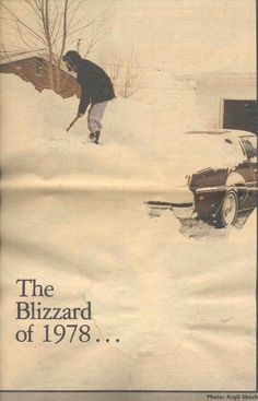 A familiar scene across Indiana during the Blizzard of 78. Photo by Argil Shock and Ft. Wayne News-Sentinal.