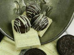 Cookies -n- Cream Chocolate Truffles! #chocolate
