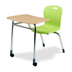 Virco Agile mobile classroom desk with sit-lock casters. Classroom Desk, Classroom Furniture, School Furniture, Furniture Projects, Student Desks, School Desks, 21st Century Classroom, Ikea Chair, Design Research