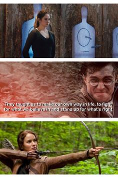 Divergent, Harry potter and The hunger games