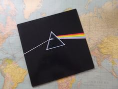 Pink Floyd dark side of the moon vinyl record door ProfessorVintage