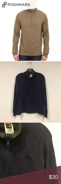 """The North Face 1/4 zip Mt. Tam Excellent condition. Chest: 19"""" across, length: 25"""". 50% cotton, 40% wool, 10% nylon. No trades. 0206 The North Face Sweaters Zip Up"""