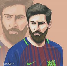 Messi 10, Lionel Messi, Football Player Drawing, Mohamed Salah, Neymar Jr, Football Players, Cartoon Art, Liverpool, Barcelona