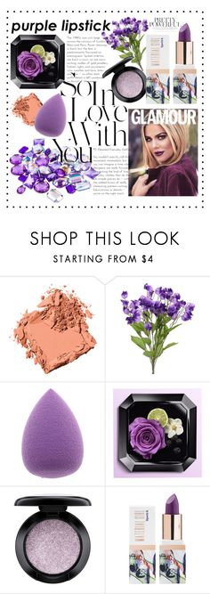 """""""Purple Lipstick"""" by nagaluh ❤ liked on Polyvore featuring beauty, Bobbi Brown Cosmetics, MAC Cosmetics and Teeez"""