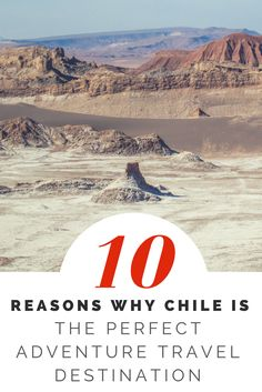 10 reasons why Chile is the perfect Adventure Travel Destination. The Ultimate Chile Travel Guide for visiting Chile in South America Travel. Santiago de Chile is an amazing city. Read my top 10 things to do in chile. The best places to visit in Chile: Easter Island Rapa Nui, Easter Island Statues, Patagonia Travel, Chile tourism, San Pedro de Atacama, Valle de la Luna, Geyser, Pucon, Temuco, Villarrica Volcano, Valparaiso Chile, Chile Wine Country, Santiago to Mendoza bus.