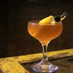 Scottish Orchard - Hard Cider, Scotch, Honey Syrup, Angostura Bitters, Lemon, Cherry