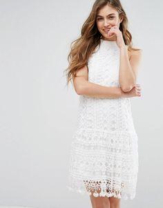 Missguided Drop Waist Crochet Lace Shift Dress at asos.com 1732207cf