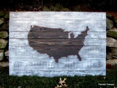 pallet art usa map, diy home crafts, pallet projects