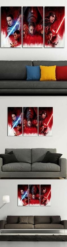 Episode 8 – The Last Jedi Canvas - Star Wars Gifts #starwars #canvas #art #wallart #decoration #home