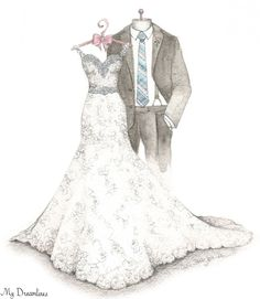 A Dreamlines artist creates wedding gifts to the bride from the groom, anniversary gifts and bridal shower gifts. Click here to see more www.MyDreamlines.com