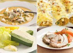 ¿Un menú de Navidad bajo en calorías? ¡Sí, es posible! Fresh Rolls, Mexican, Ethnic Recipes, Christmas, Diabetes, Food, Holiday Foods, Cheese Salad, Seafood