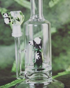 How cute are these Panda Buddies? Grab your Pipe by Empire Glassworks here: