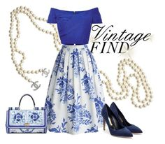 """""""Vintage"""" by sevenpixpig ❤ liked on Polyvore"""