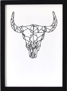 Oelwein A3 Poster - Buffalo Skull -