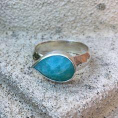 Amazonite ring Gemstone Rings, Jewellery, Gemstones, Jewels, Gems, Schmuck, Minerals, Jewelry Shop, Jewlery