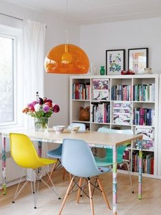 FLY Hanging Lamp by Kartell | Colorful Dining | SmartFurniture.com