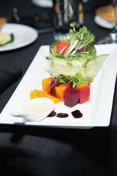 Upscale Beet Salad  - Kosher Bar Mitzvah Catering Long Island by Gala Event & Food Artistry at Temple Beth Torah {Stephen Andrews Studios} - mazelmoments.com
